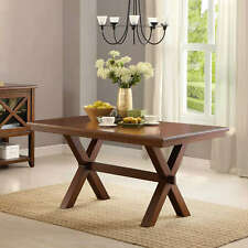 Long Wooden Dining Table Rectangular Kitchen Dining Home Office Furniture Brown