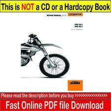 2019 KTM 250 SX-F XC-F Repair Service Workshop Manual (PDF)