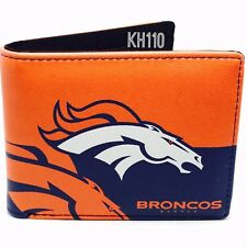 9d807394d Denver Broncos NFL Men s Printed Logo Leather BiFold Wallet