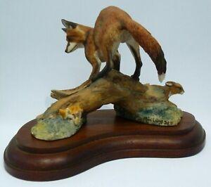 Vintage Border Fine Arts Fox & Rabbit Hare Wild Animal M Laing Hunt 1978 Rare