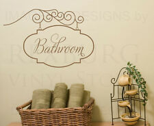 Bathroom Sign Wall Decal Vinyl Sticker Art Decoration Decor Mural Graphic G67