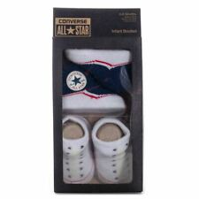 Boy's Converse Baby 2 Pack Elasticated Booties in Blue and White
