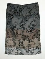 Colorado Brand Grey Floral Ombre Straight Skirt Size 8 LIKE NEW #AN02