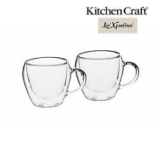 KitchenCraft Le'Xpress Double Walled Glass Tea Cups