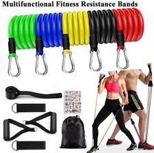 Resistance Exercise Band Set Yoga Pilates Abs Fitness Tube Workout Ban 11 PCS