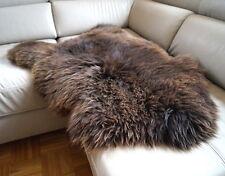 ÖKO 100cm Schaffell braun natur, Lammfell, sheep skin, Schafsfell NEU