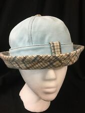 Paul Frank Bucket Hat Cap Blue Plaid 2005 Pale Blue Women Cloche LR