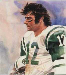 Joe Namath New York Jets Corning Print