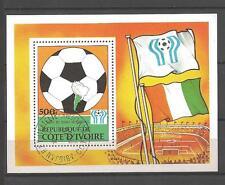 Football Cote d'Ivoire (31) bloc oblitéré