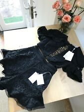 RRP $750 NEW Zimmermann Lovelorn Flutter SET, in Black, Top & Shorts Size 0