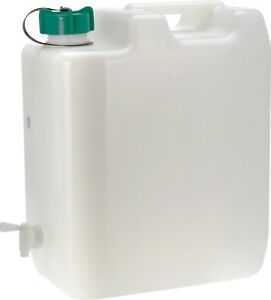 35 Litre Large Water Carrier Jerry Can Container Food Grade Plastic With Tap.