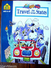Travel the Great States Workbook for Ages 8+- Lots of Activities-Home Schooling