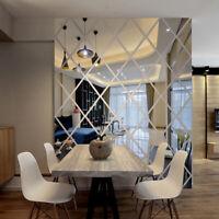 Diamant 3D Acryl Spiegel Wandaufkleber DIY Art Abziehbilder For Zuhause Dekor