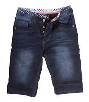Pantalon de jogging pour hommes pantalons courts boxer jeans délavage utilisé