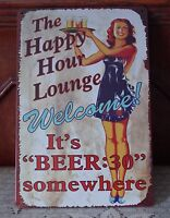 Welcome Beer Time metal Tin signs Antique poster Home Pub Bar wall decor