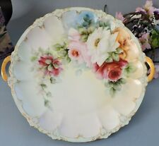 Art Nouveau  Rosenthal hand painted Cabinet Plate with Roses