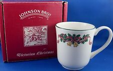 New (NU) JOHNSON BROTHERS WEDGWOOD 1990s VICTORIAN CHRISTMAS Gift Mug BOXED
