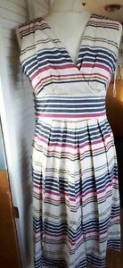 Tom Joules Ladies Knee Dress 10 Striped