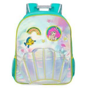 NWT Disney Store Ariel Backpack School Girls Princess The Little Mermaid