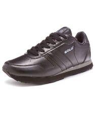 Mens Gola Newport Faux Leather Trainers Black Size UK11 EUR45 US12 NEW