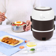 2L 3Layers Portable Electric Heating Lunch Box Steamer 110V 200W Pot Rice Cooker