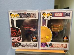 FUNKO POP CORRUPTED VENOM COSMIC GHOST RIDER LACC with hard case covers