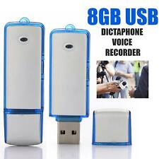 More details for 8gb digital usb dictaphone voice recorder listening device flash memory stick uk
