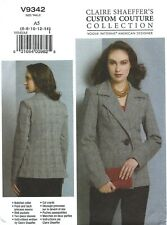 Vogue V9342 Custom Couture Jacket Sz 6-14 UNCUT Sewing Pattern OUT OF PRINT