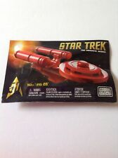 Sdcc 2016 Exclusive Star Trek 50th Anniversary Red Uss Enterprise Mega Bloks New