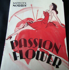 "Old vintage Hollywood movies Herald of movie ""Passion Flower"" from U.S.A 1935"