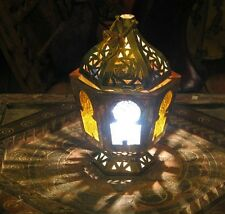 Moroccan brass Candle Lantern -Moroccan Outdoor lantern -Moroccan brass lantern