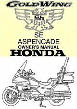 1999 HONDA GOLDWING GL1500 MOTORCYCLE OWNERS MANUAL -SE-ASPENCADE--GOLD WING
