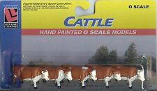 "SET OF 5 CATTLE - HAND PAINTED ""O"" SCALE MODELS - USE WITH LIONEL / MTH/ Others"