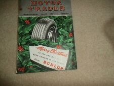 Motor trader magazine 1950..Period ads & equipment....Auction / New car prices