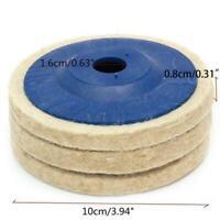 """1pcs 100mm 3.94/"""" Wool Buffing Angle Grinder Wheel Felt Disc Pad Set Polishi H8D6"""