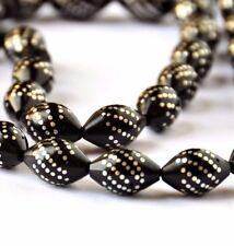 Islamic Prayer Beads Kuka seeds & sterling silver + velvet box by NileCart