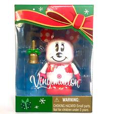 "DISNEY VINYLMATION 3"" JAPAN TOKYO RESORT CHRISTMAS SNOWMAN MINNIE MOUSE 2012 TOY"