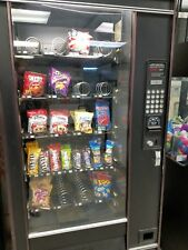 Snack Vending Machine, black, 24 coils, good condition, snacks included