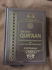 The Holy Quran Translation Transliteration In English Hard Back Marmaduke Large