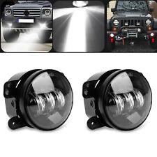 "Pair 4"" Inch Osram Round Led Fog Lights Driving Lamps for Jeep Wrangler Jk Tj Cj"