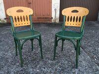 1/20 Stühle Stuhl Bistrostuhl Design Fledermaus Retro Kaffeehaus Bauhaus Gastro