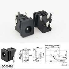 10pcs Iron 4.8 x 1.7mm DC Power Supply Female Jack Socket PCB Mount Connector