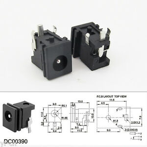 1pc Copper 4.8 x 1.7mm DC Power Supply Female Jack Socket PCB Mount Connector