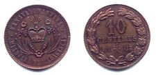 MADAGASCAR . RAVANALOVA III . ESSAI 10 CENTIMES 1883 . SPL .