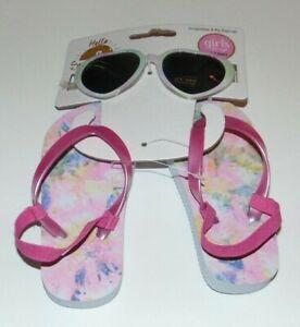 NEW Toddler Girls HELLO SUNSHINE Flip-Flops & Sunglasses! Size 0-3 Years Cute FS