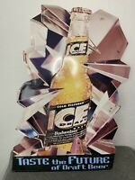 Vintage Bud Ice Draft Beer Sign Tin Metal RARE 1993 Budweiser 23 X 32 Man Cave