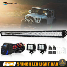 54INCH STRAIGHT LED LIGHT BAR COMBO OFFROAD 4WD FOR Hummer Dodge Ram ATV 52