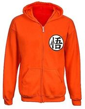 Dragon Ball Anime Orange Medium Zip Hoodie