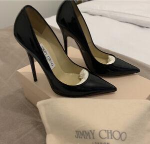 Jimmy Choo Anouk Court Heels Sz 3 Black