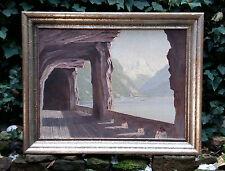 Rareza Pintura al óleo: Blick auf Lago de lucerna y Flueelen, AXEN ROAD Suiza
